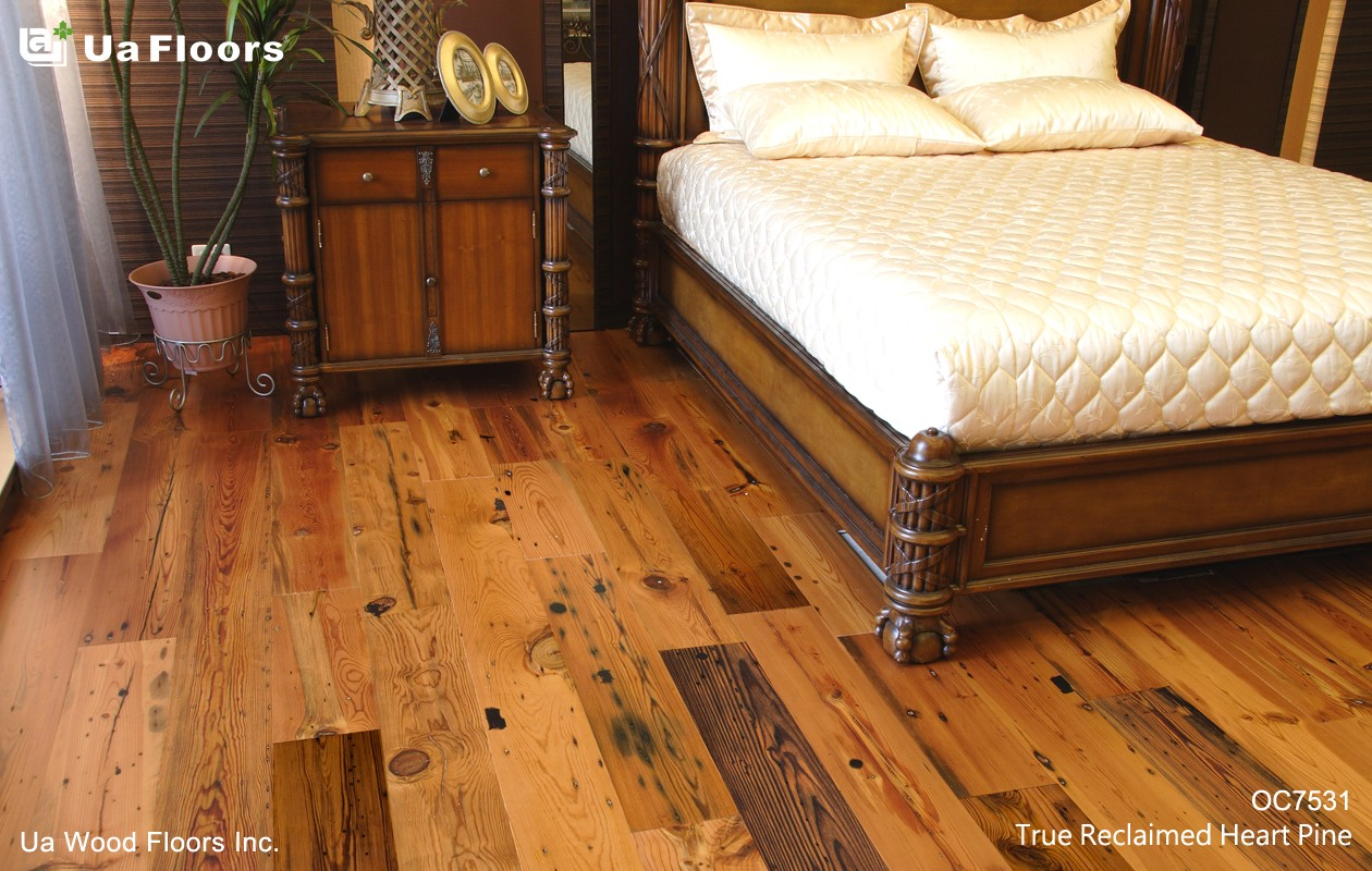 Ua Floors - PRODUCTS|Reclaimed New Heart Pine Engineered Hardwood