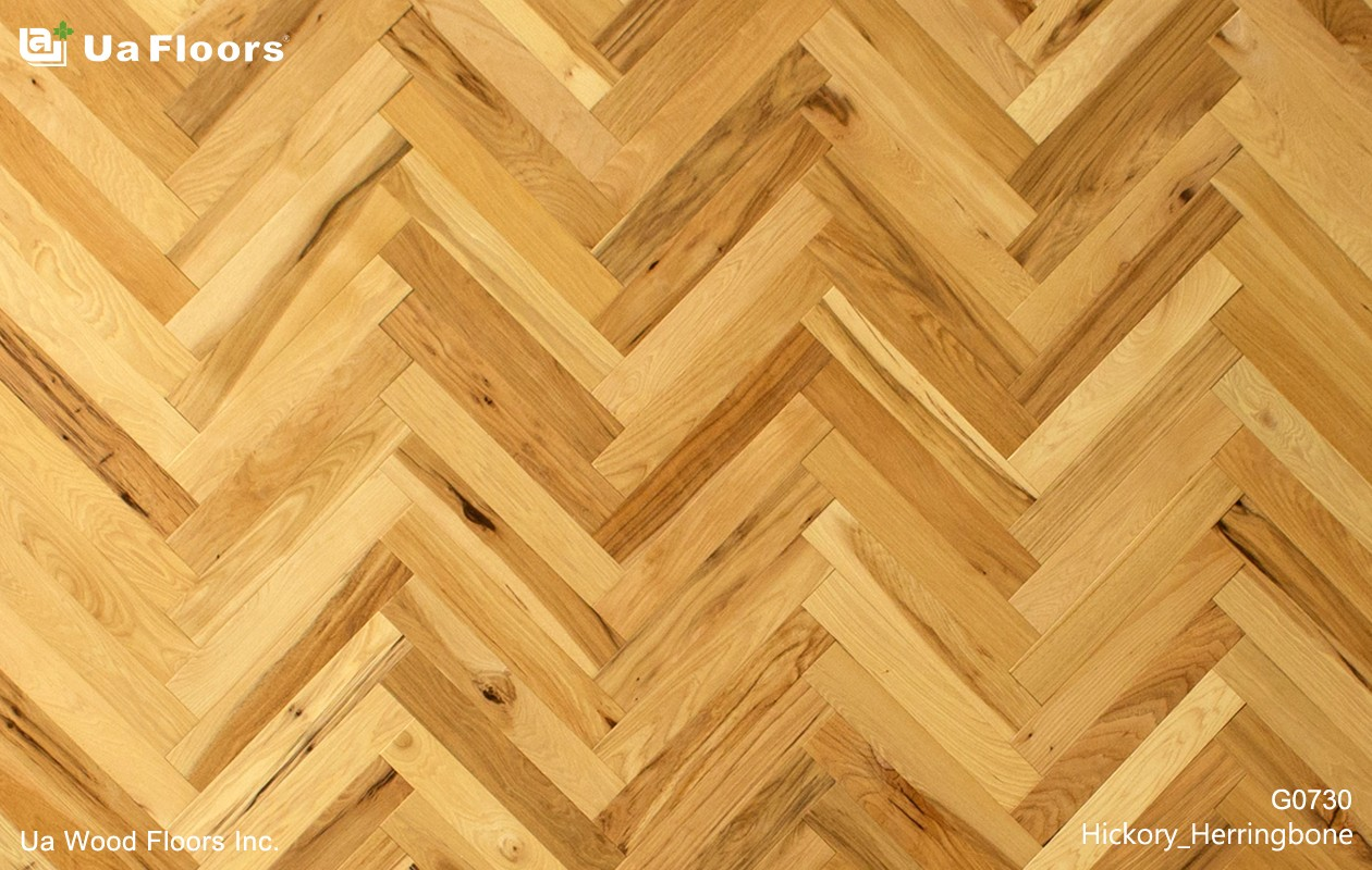 Ua Floors - PRODUCTS|Hickory Herringbone Hardwood Flooring