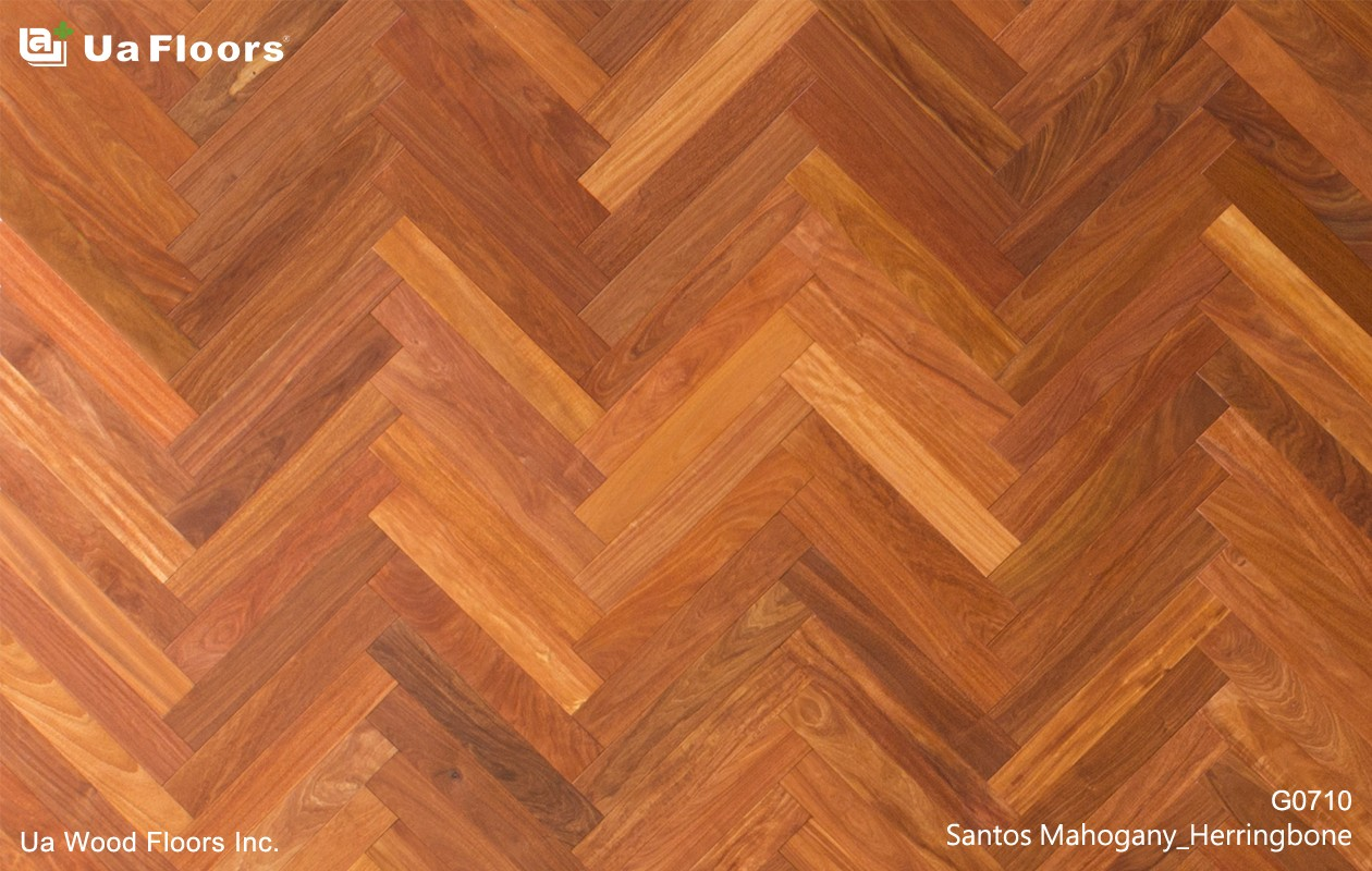 Santos Mahogany Herringbone Hardwood, Can You Lay Laminate Flooring In A Herringbone Pattern