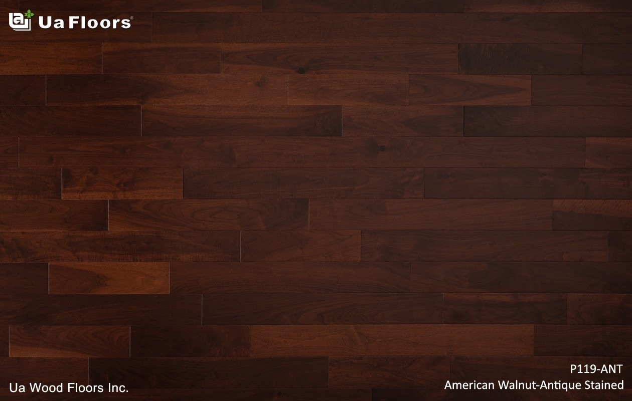 Ua Wood Floors Inc. - PRODUCTS|American Walnut_Antique Stained